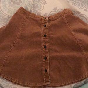 Rare brandy melville corduroy skater skirt